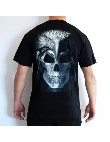 CAMISETA DE ADULTO CALAVERA PLUMAS GLOBAL BRANDS - 2