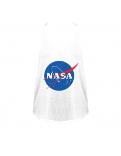 NASA LOGO CAMISETA TIRANTES BLANCA CHICA  - 1