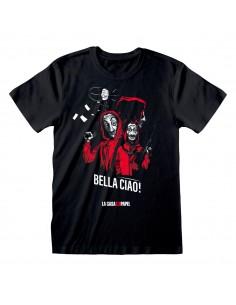 MONEY HEIST BELLA CIAO ADULT T-SHIRT LA CASA DE PAPEL - 1