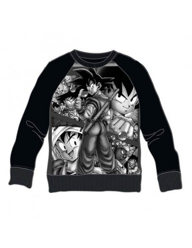 DRAGON BALL Z PERSONAJES BLANCO Y NEGRO SUDADERA ADULTO  - 1