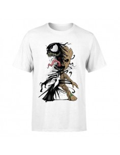 MARVEL GROOT-VENOM CAMISETA BLANCA ADULTO  - 1