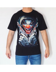 PAYASO PISTOLAS CAMISETA NEGRA 3D ADULTO GLOBAL BRANDS - 1
